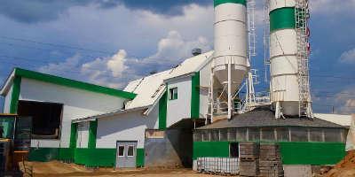 Бетонный завод в Пышлицах